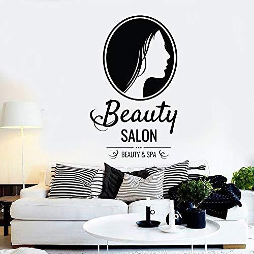 guijiumai Schönheit Friseursalon Maniküre Kosmetische Wandaufkleber Zeichen Kunstwand Vinyl Schönheitssalon Logo Fenster Dekor PVC Wandtattoos68X42CM