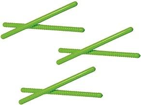 Westco 3 Pairs of 10 inch Rhythm Sticks - Ribbed & Smooth (Green)