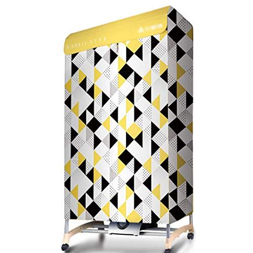 Trockner Doppelschichtiger Großer Kapazität Silent Stromsparender Wäschetrockner Dreidimensionale Weiche Trocknung, Kapazität 10 Kg (Color : Yellow, Size : 70 * 50 * 138cm)