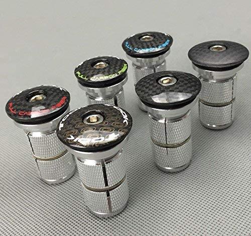 Celtics en fibre de carbone VTT Vélo de route casque Top cover Cap Écrou étoile Aluminium Expander Plug 1Lot, Expander only