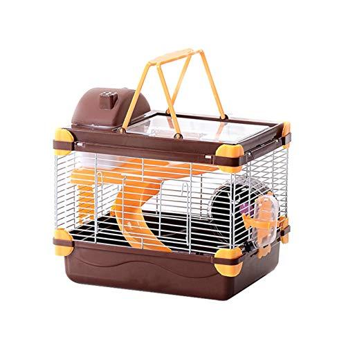 Wenhe Jaula transparente para hámsters, doble castillo de lujo, mini jaulas para animales pequeños, ratones y roedores