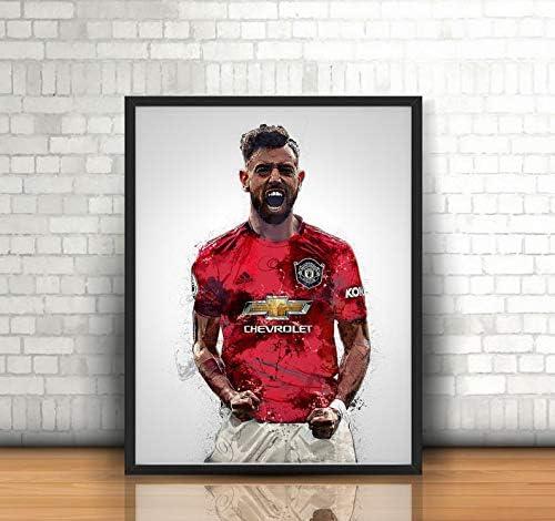 Bruno Fernandes Poster Canvas Manchester 10%OFF United Art 大注目 Wall Decor