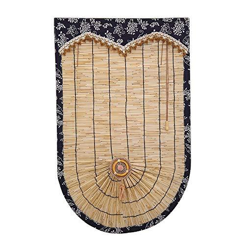 Ping Bu Qing Yun Rodillo de cortina de bambú - Cortina de láminas en forma de abanico Cortina romana con cordón Adecuado for el hogar Restaurante Tienda Cortina de ventana Cortina de partición 3 color