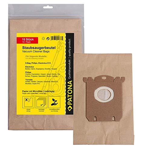 PATONA 10x Sacchetti per aspirapolvere carta compatibile con Philips FC 8380.8399-Impact HR 8300.8349-Expression…