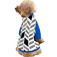 ペット服 ドッグウェア 幾何学模様 黒と白 ペットウェア 犬服 猫服 秋冬 パーカー 全3色6サイズ 犬用スポーティーパーカー トップス あったかドッグウエア カジュアルロンパース フード付き ジャケット 可愛い 脱毛保護 お散歩