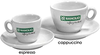 Rancilio Cappuccino Cup and Saucer Set of 6