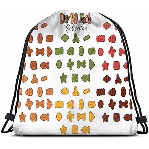 EW-OL Sammlung Bilder zum Thema Trockenfutter Tiere Wildlife Drawstring Rucksack Tasche Unisex