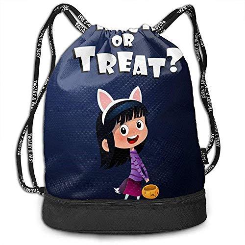 Süße Hexe mit Candy Halloween Beam Kordelzug Rucksack Unisex