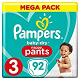 Pampers Baby Dry Pants Couche-Culotte Taille 3 6-11 kg Méga Pack x 92 Pièces
