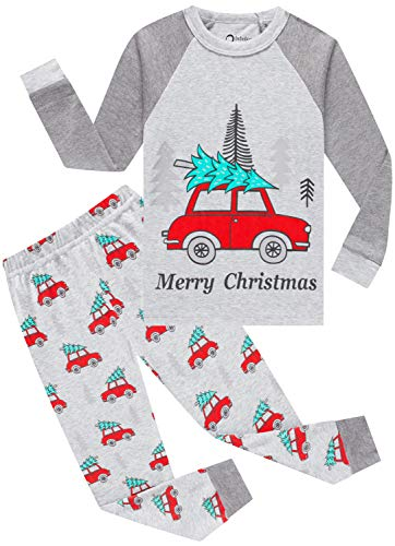 Boys Christmas Tree Pajamas Baby Girls Car Pjs Children Cotton Sleepwear Toddler Jammies Size 7