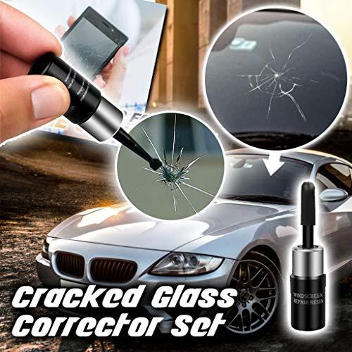 Autoglas Nano Reparaturflüssigkeit DIY Auto Reparatursatz Fenster für Glas Chip Risse Fix Auto Glass Crack Chip Scratch Repair Tool Kit Windschutzscheibe Reparaturset