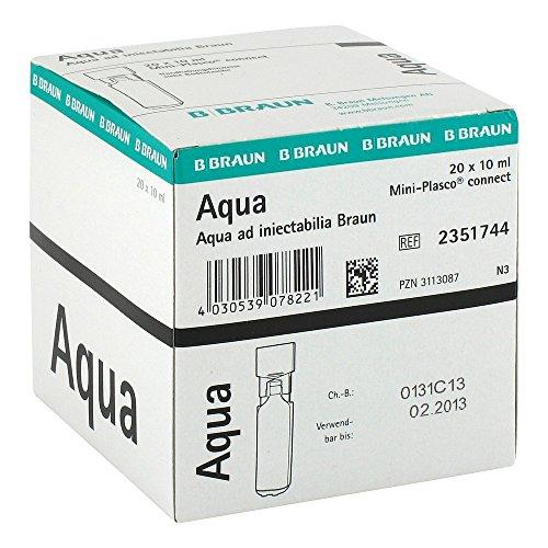 Aqua Ad Injectabilia Miniplasco Connect Inj.-Lsg, 20X10 ml