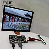 Yongenee Pantalla táctil capacitiva de 8 Pulgadas 1024 * 768 4: 3 MÓDUGO Monitor IPS LCD Pantalla LCD para Linux Windows 7 8 10 Android Raspberry Pi Herramienta (Color : Screen with Touch)