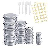 Tarros Aluminio vacío Recipiente de cosmética 20pcs 5/10/20/30 ml Lata Aluminio para cosmetica Viajes Almacenamiento Aceite Crema Bálsamo Labial Aceite Vela Jabón