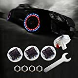 LEADTOPS Car Wheel Tire Light, 4-pack Solar Energy Motion Sensors Flashing Colorful Gas Nozzle LED Tire Schrader Valve Cap Lights Lamp Bulb Waterproof for Car Auto Motorcycles Bicycles