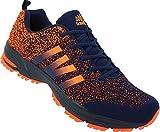 Herren Sportschuhe Sneaker Schuhe Übergröße Gr.47-50 Nr. 227 (48, Navy-orange)