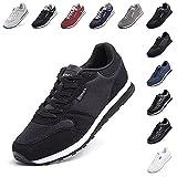 Zapatillas Hombre Mujer Casual Sneaker Gimnasio Cómodos Clásico Zapatos Deportivas Running Negro 2 Talla 39