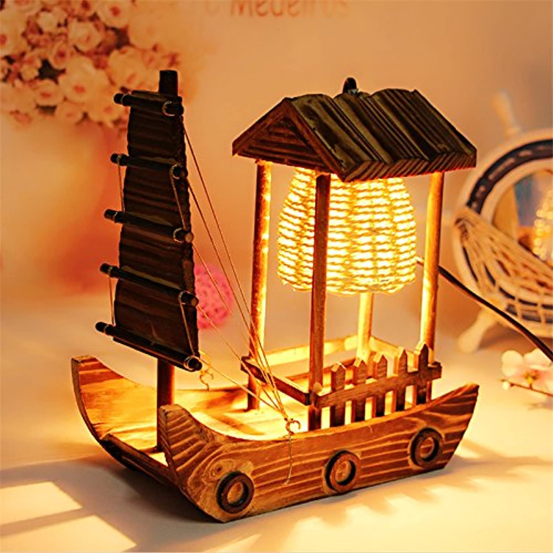 ZHIYUAN Holz Holz Holz Handwerk Kabine SegelStiefel Lampe 26  23  10 cm B072KN7LV1  | Komfort  b907b1