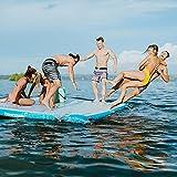Driftsun Inflatable Floating Dock Platform - Mesa Inflatable Floating Mat and Swim Deck...