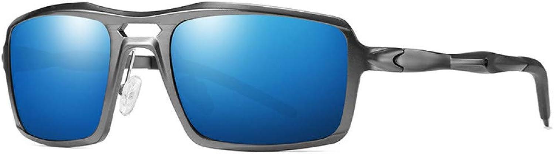 HNPYY Sonnenbrillen Sonnenbrille Mnner Polarisierte Sonnenbrille Square Driver Spiegel Metall