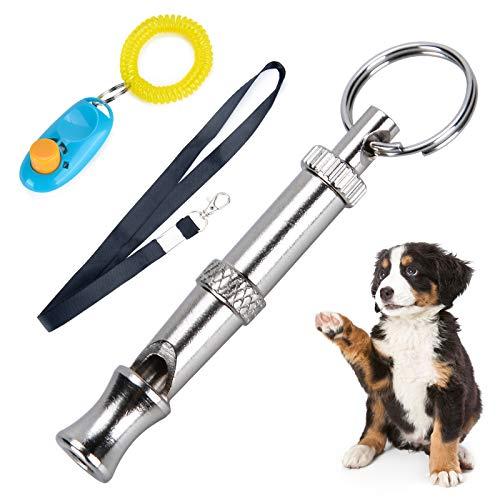 犬笛 ペットクリッカー 超音波 犬ホイッスル Fohil 無駄吠え防止 音階調節可能 犬 しつけ 訓練笛 トレーニング ステンレス製 訓練用品 犬猫用 ロープ付き …