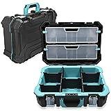 Navaris valigetta porta-utensili tecnico 20 1/2' vuota - 52.5x38.9x19cm - 2 chiusure in acciaio - diversi scomparti 2 scatole organizer - senza attrezzi