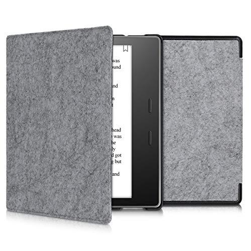 kwmobile Hülle kompatibel mit Amazon Kindle Oasis 10. Generation - Filz Stoff eReader Schutzhülle Cover Case - Filz Hellgrau