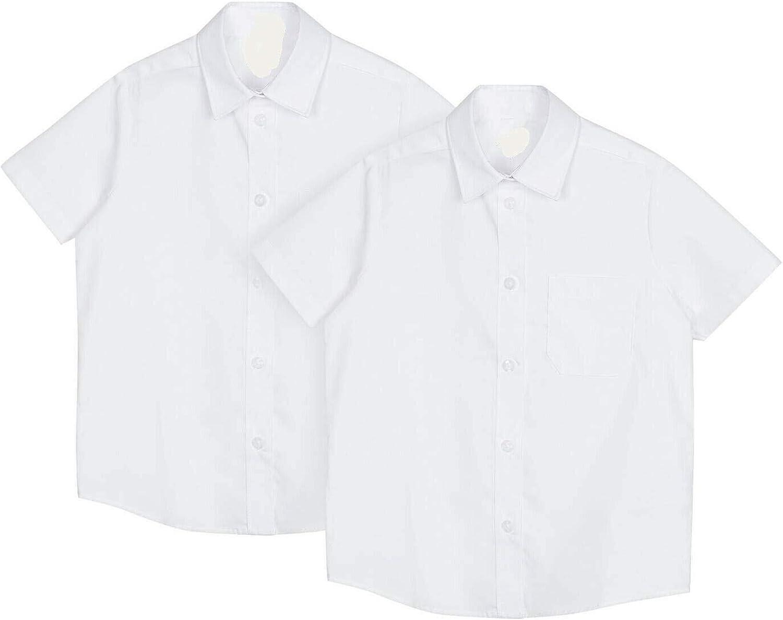 Girls School Shirt 2 Pack Short Sleeve White Easy Iron Dupont Teflon Regular Fit 4 up to 13 Years