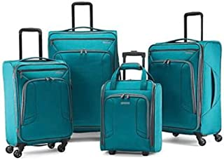 4 Kix Expandable Softside Luggage with Spinner Wheels,...