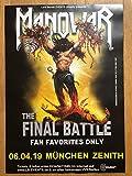 Vinylnerds Manowar Final Battle Original Konzert Plakat