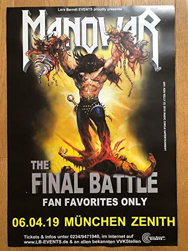 Vinylnerds Manowar Final Battle Original Konzert Plakat Tour Poster München Zenith 6.4.2019