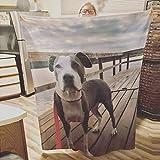 andisi Personalisierte Decke,Fotodecke mit eigenem Foto,bettwäsche personalisiert (100x150cm)
