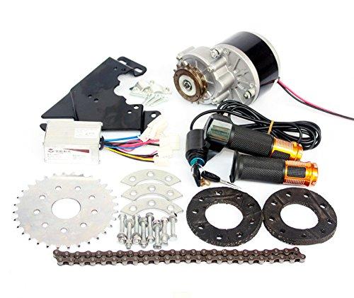 L-faster Nuovo corredo elettrico di conversione di arrivo 250W per l'azionamento a catena sinistra della bici comune su misura per il Derailleur elettrico di ricambio della bicicletta (Twist Kit)
