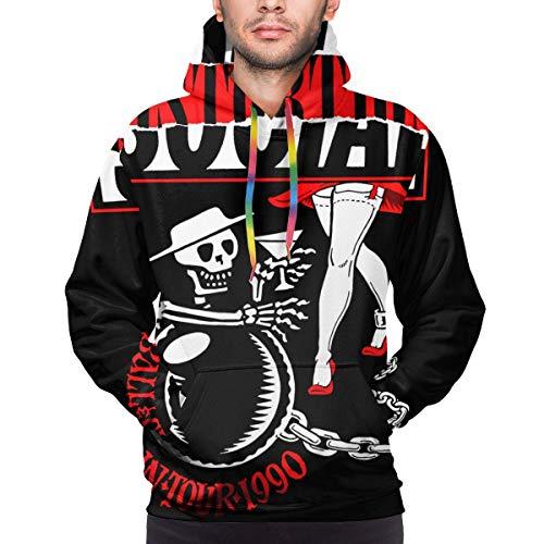 Tengyuntong Hombre Sudaderas con Capucha, Sudaderas, Social Distortion Men Lovely 3D Print Long Sleeve Hoodie Sweatshirt Black