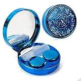 Color Sparkles Contact Lens Care Vision Care Nobleness Cute Contact Lens Cases Contact Lens Set Contact Lens kit Set Colored Contact Lenses for Women (Blue)