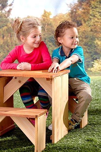 AXI ZidZed Picknick Set aus Holz | Picknicktisch & Picknickbank für Kinder