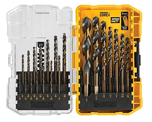 DEWALT DWA1181 21-Piece Set Black Oxide Coated Hss Twist Drill Bit Set