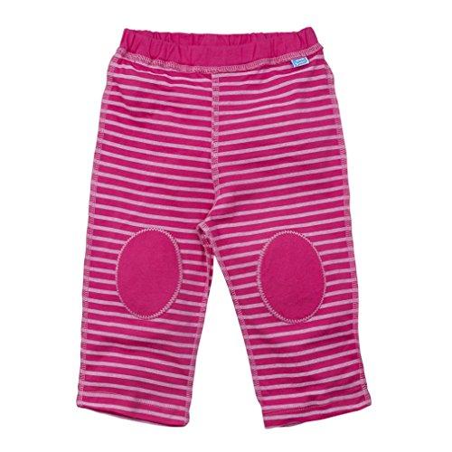 i play. Pantalon de Yoga en Coton Bio Hot Pink Rayure 6-12 Mois