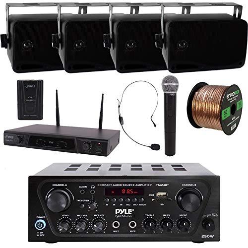Pyle 2-Channel Wireless Karaoke Home Audio Bluetooth Stereo Amplifier...