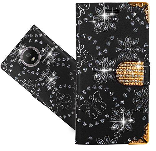 Motorola Moto G5S Handy Tasche, FoneExpert® Wallet Hülle Cover Bling Diamond Hüllen Etui Hülle Ledertasche Lederhülle Schutzhülle Für Motorola Moto G5S