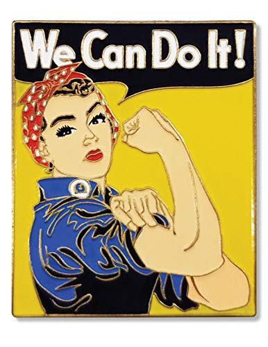 We Can Do it - Enamel Pin - Large 1.5' - In Commemoration of Rosie the Riveter and Supporting Women's Rights in the U.S.A.