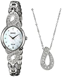 Crystal Jewelry Japanese-Quartz Watch with Stainless-Steel Strap Model: SUP367