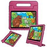 LEEBOSS Niños Funda Para Huawei Mediapad T3 10 (9.6 Pulgadas), A Prueba De Golpes Ligero Soporte De Manija Protectora Cubierta De Los Niños Para Huawei Mediapad T3 10 (9.6') - Rosa