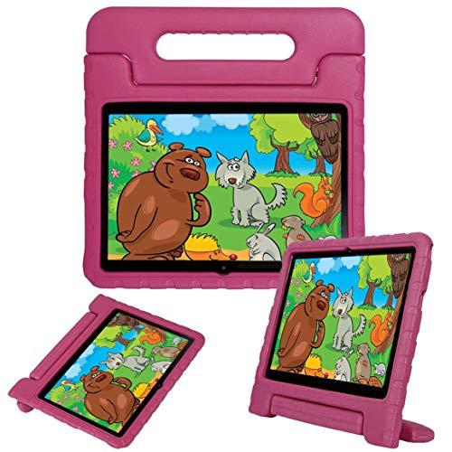 """LEEBOSS Niños Funda Para Huawei Mediapad T3 10 (9.6 Pulgadas), A Prueba De Golpes Ligero Soporte De Manija Protectora Cubierta De Los Niños Para Huawei Mediapad T3 10 (9.6"""") - Rosa"""