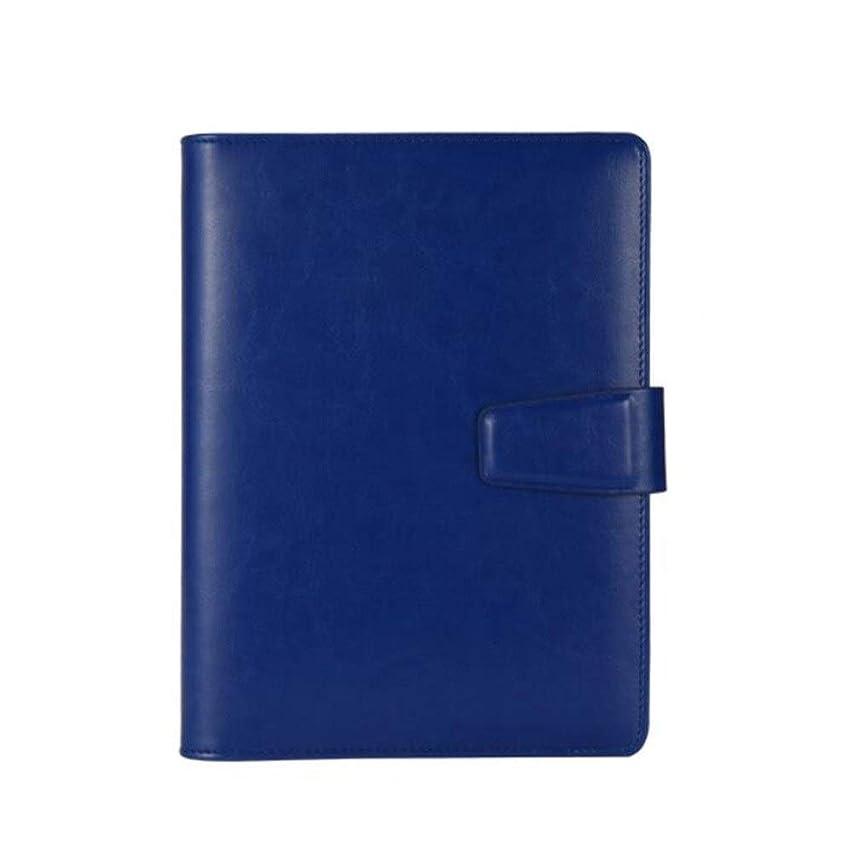 書き込み ノートA5メモリーブック、ルーズリーフハンドブッククリエイティブトラベルジャーナル、日記オーガナイザー 学生の (Color : Blue)