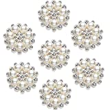 Hicarer Pearl Rhinestone Flower Buttons...