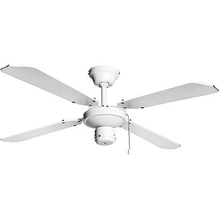Madera 5 Aspas 132 cm Di/ámetro. 2xE27 Ventilador para Techo Cuero