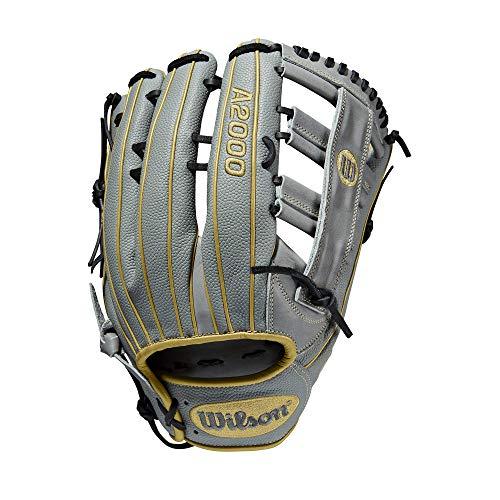 "Wilson A2000 SP13 13"" Slowpitch Softball Glove - Right Hand Throw , Grey/Vegas Gold"