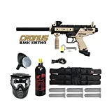 Tippmann US Army Alpha Black Elite Paintball Marker Gun with Deluxe Package