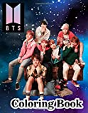 BTS Coloring Book: for ARMY and KPOP lovers Love Yourself Book 8.5 in by 11 in Size - Hand-drawn ... Jin, RM, JHope, Suga, Jimin, V, and Jungkook